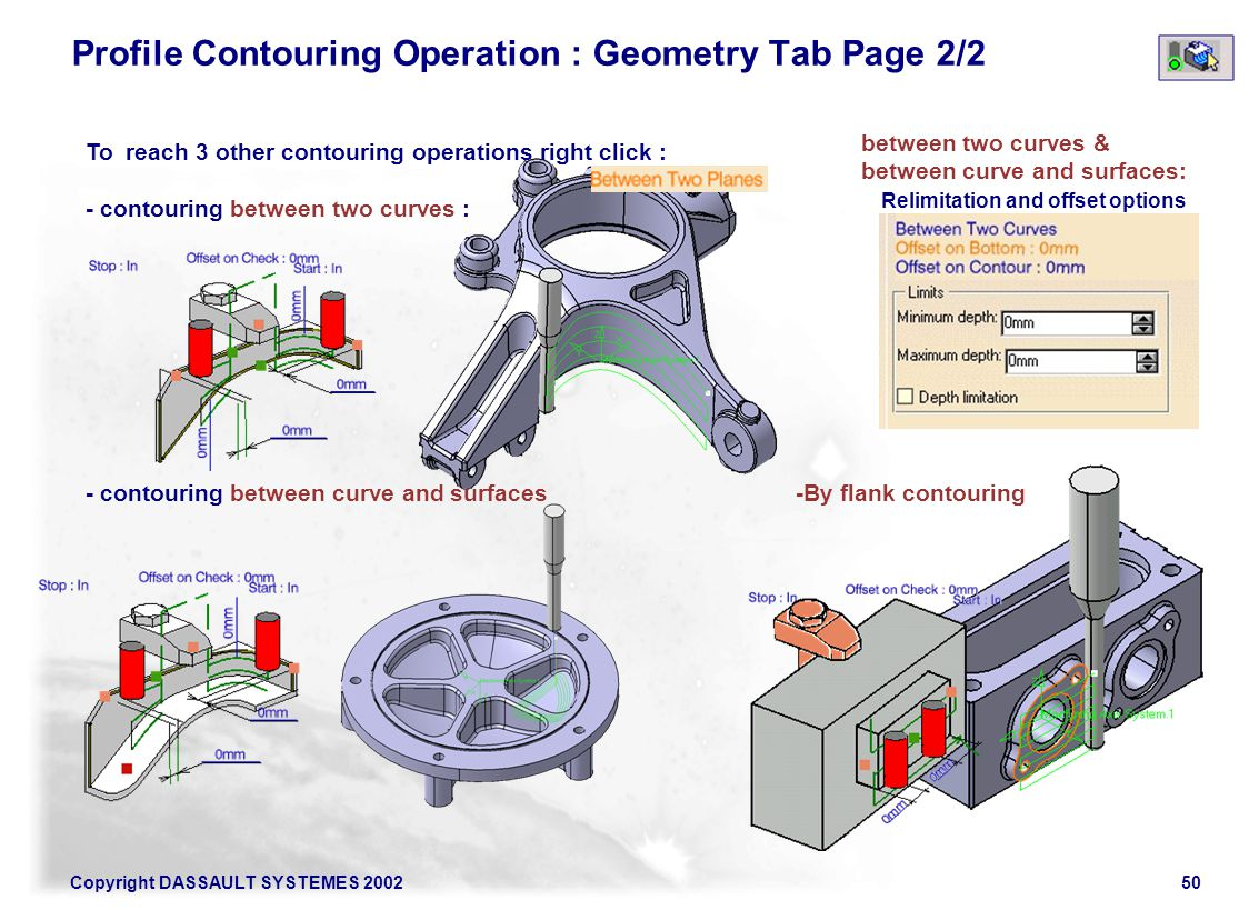 Profile Contouring Operation : Geometry Tab Page 2/2