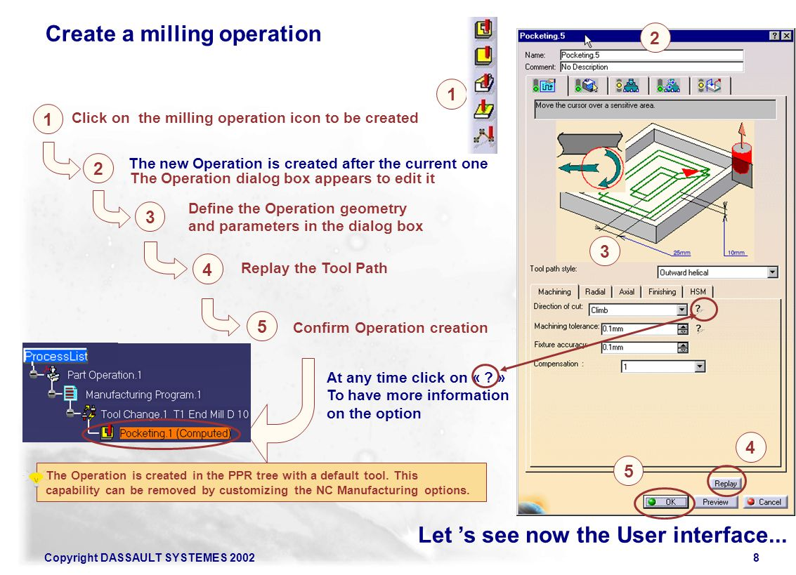 Create a milling operation