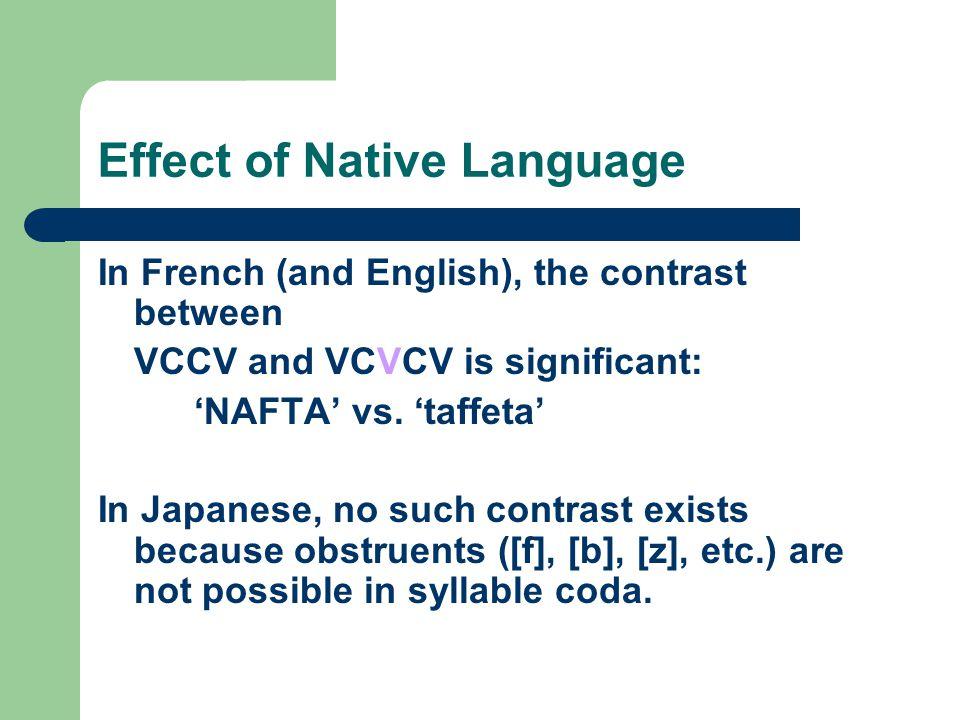 Effect of Native Language