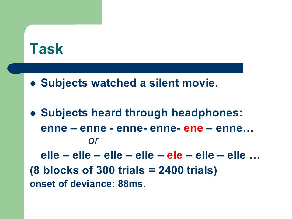 Task Subjects watched a silent movie.