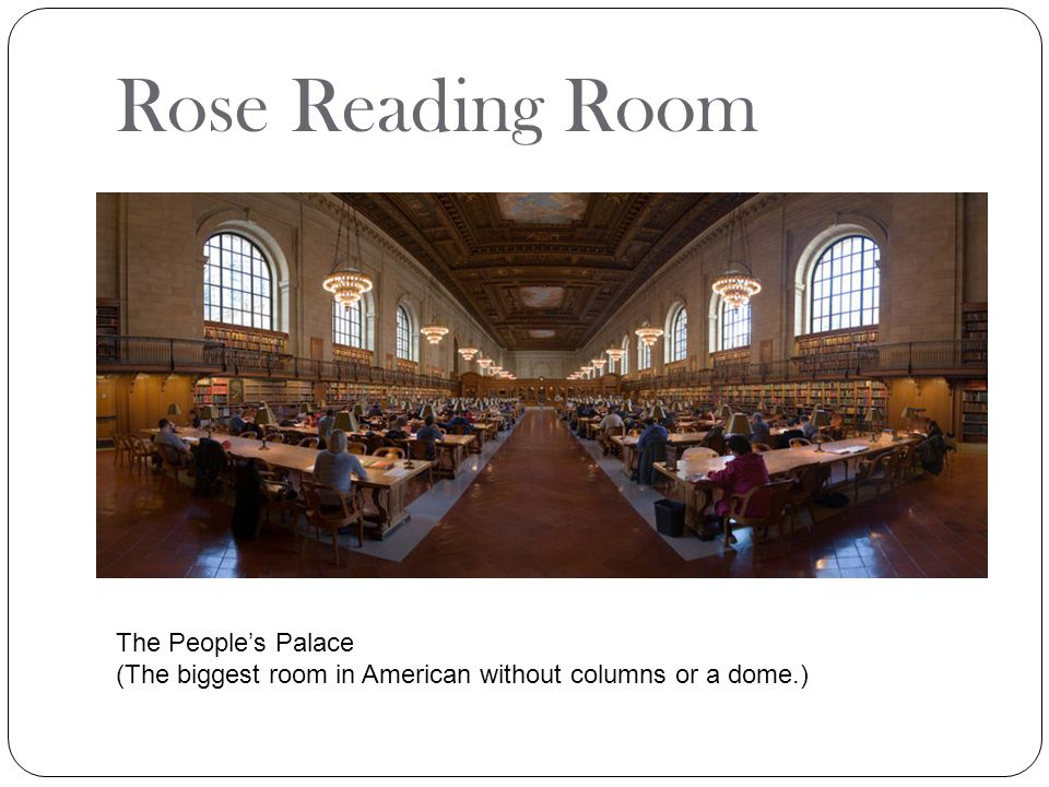 Rose Reading Room The People's Palace
