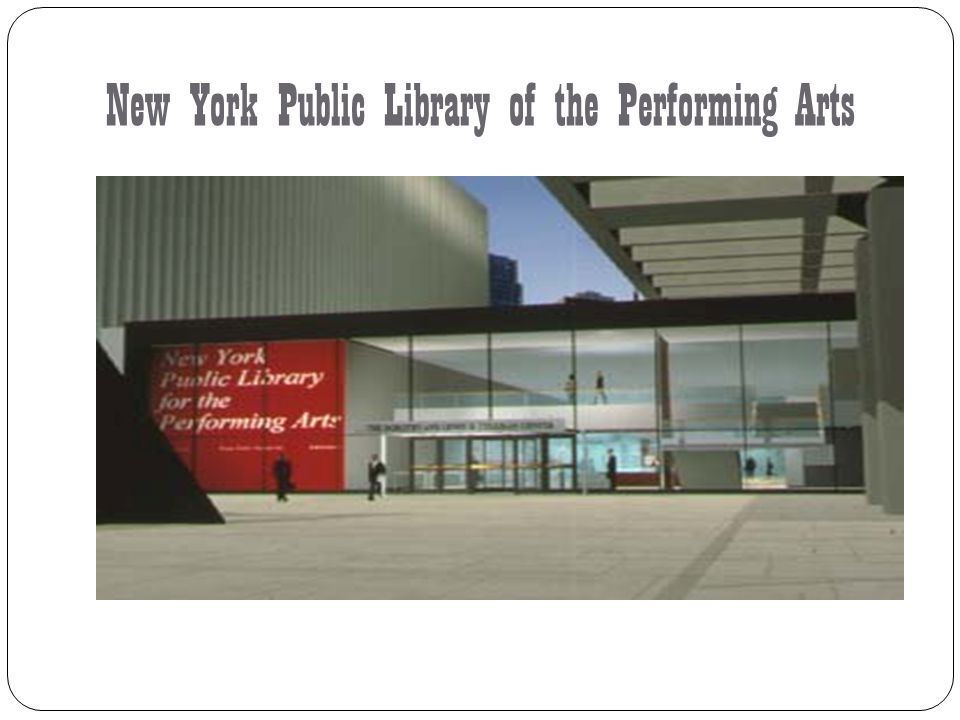 New York Public Library of the Performing Arts