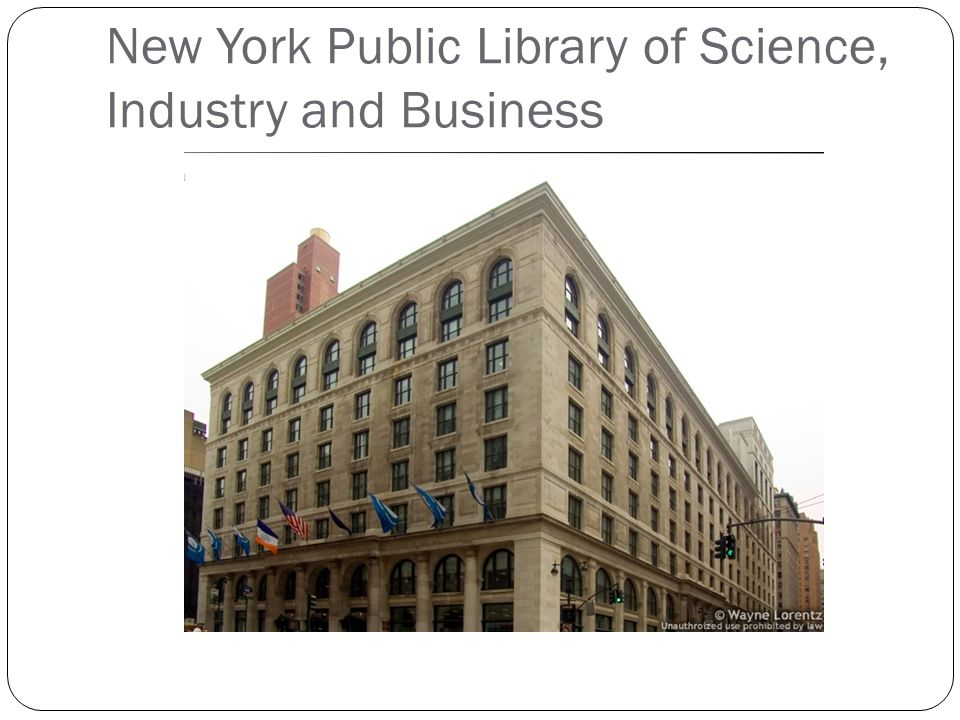 New York Public Library of Science, Industry and Business