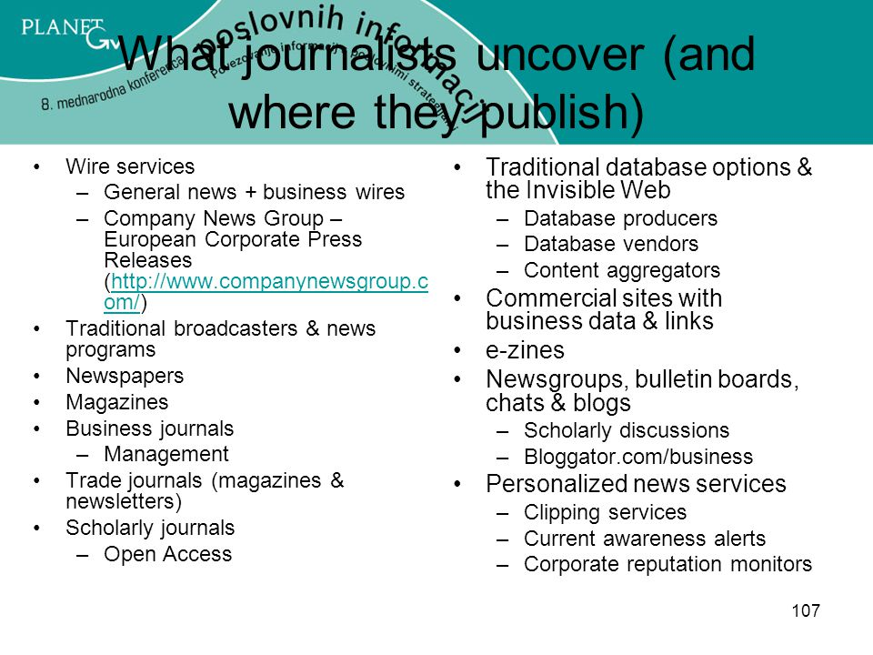 What journalists uncover (and where they publish)