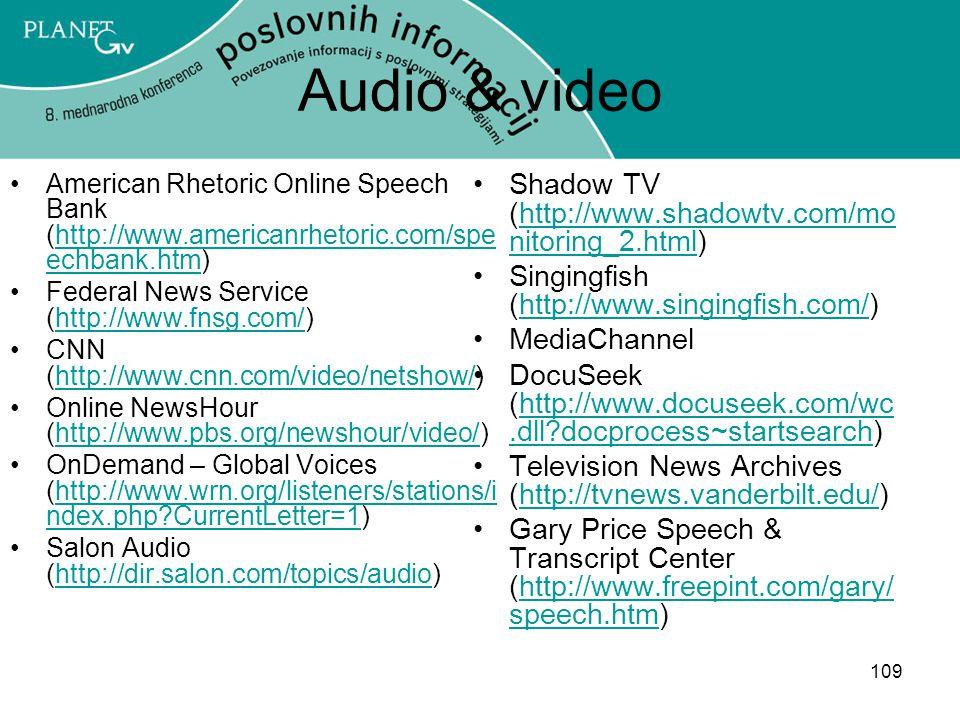 Audio & video Shadow TV (http://www.shadowtv.com/monitoring_2.html)