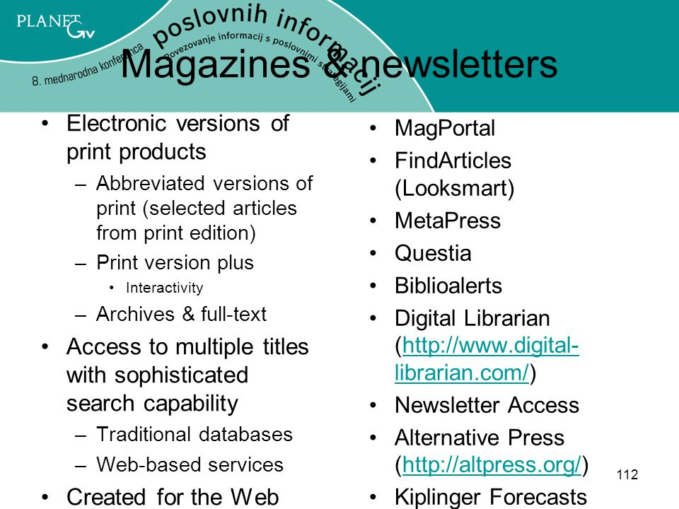 Magazines & newsletters