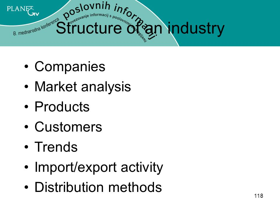 Structure of an industry