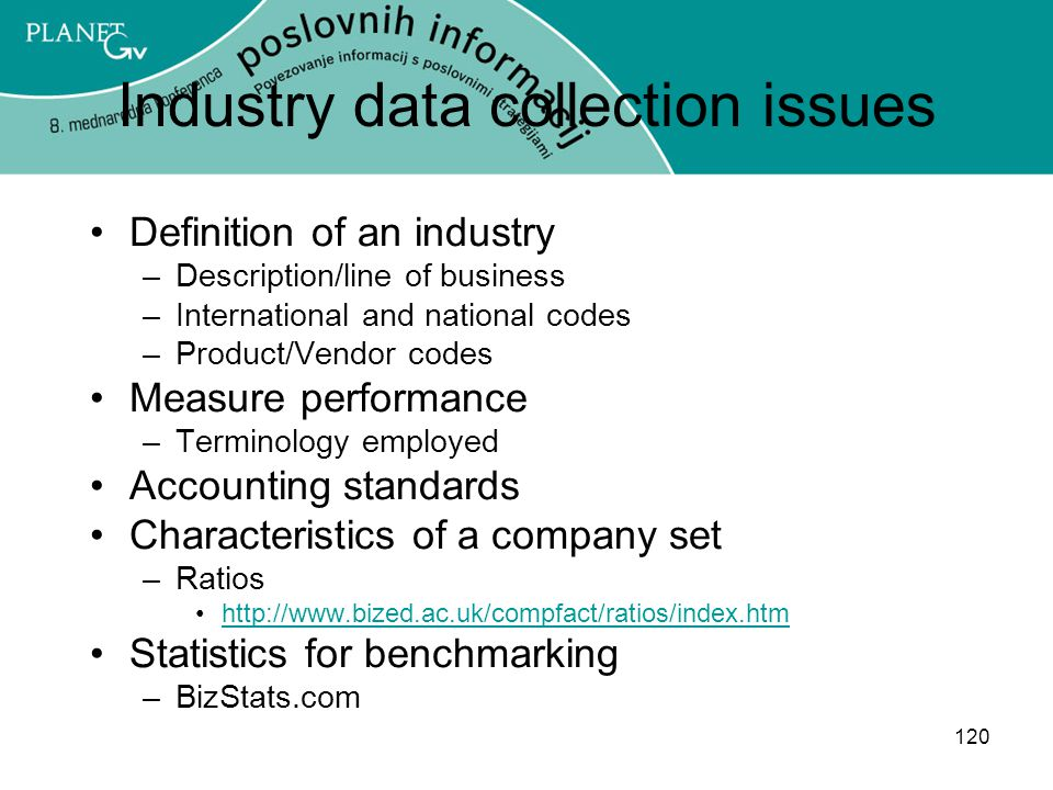 Industry data collection issues