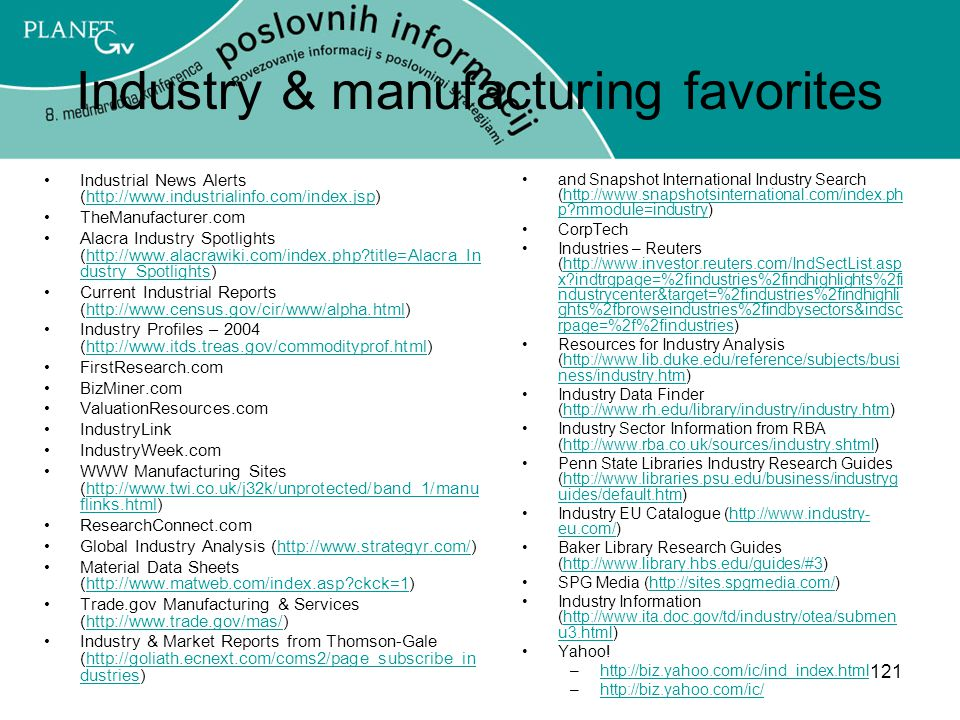 Industry & manufacturing favorites