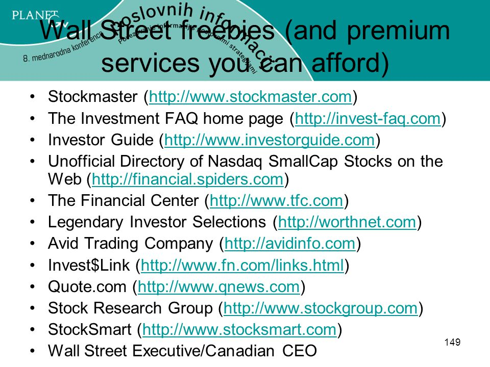 Wall Street freebies (and premium services you can afford)