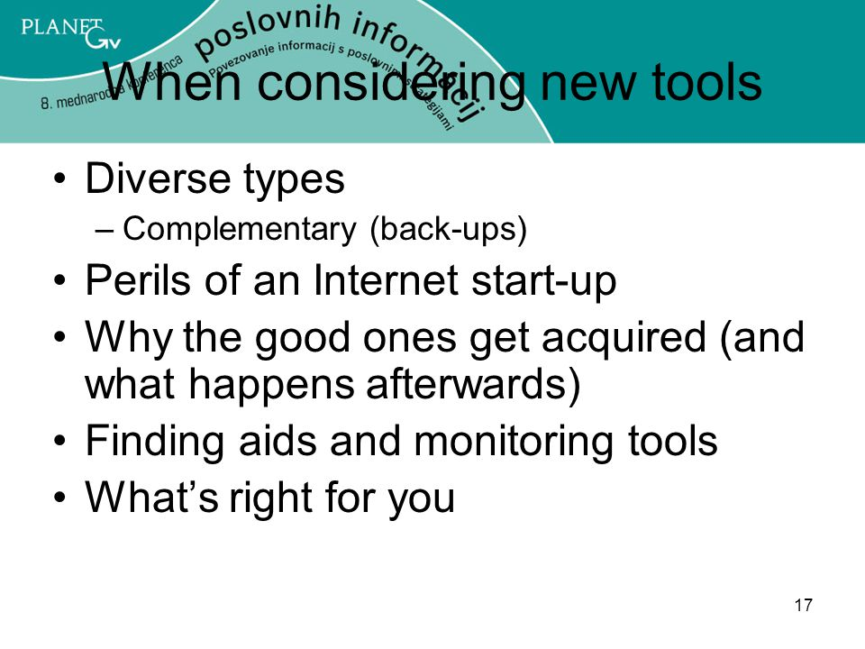 When considering new tools