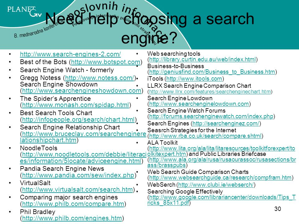 Need help choosing a search engine