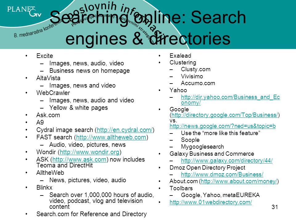 Searching online: Search engines & directories