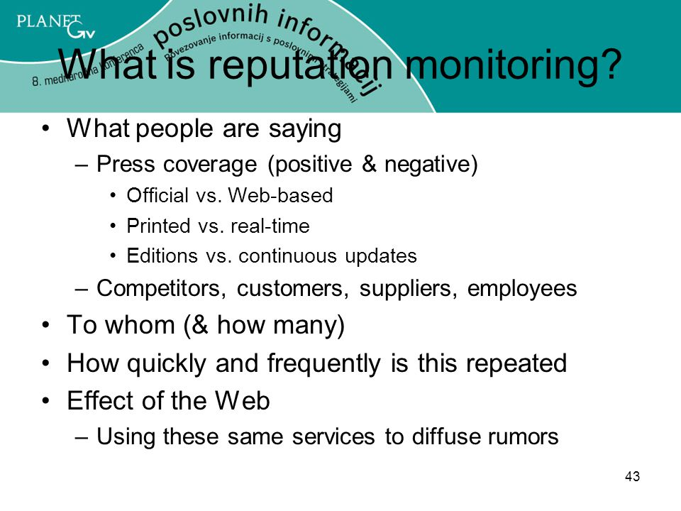 What is reputation monitoring