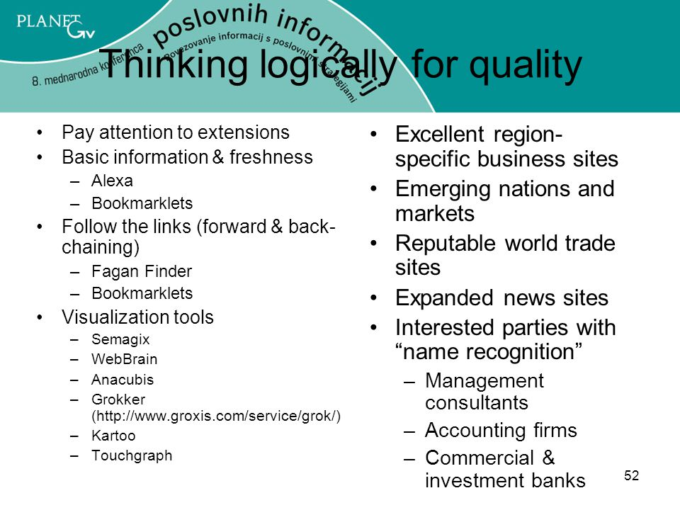 Thinking logically for quality