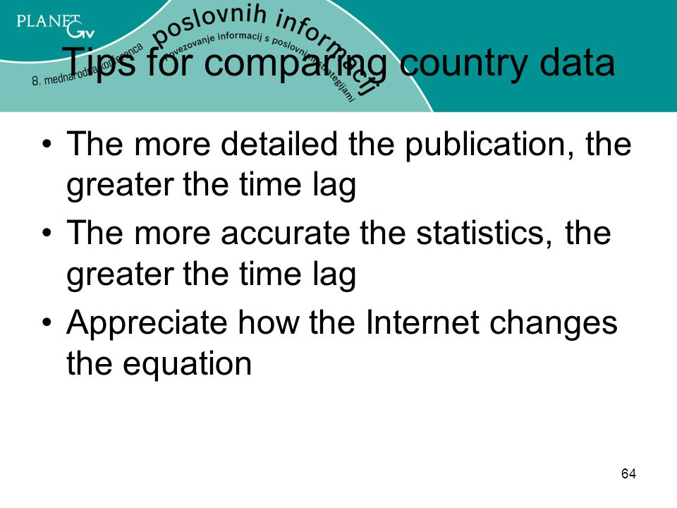 Tips for comparing country data