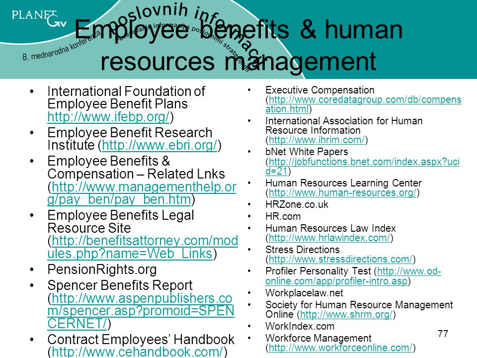Employee benefits & human resources management