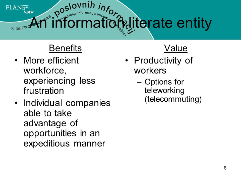 An information literate entity