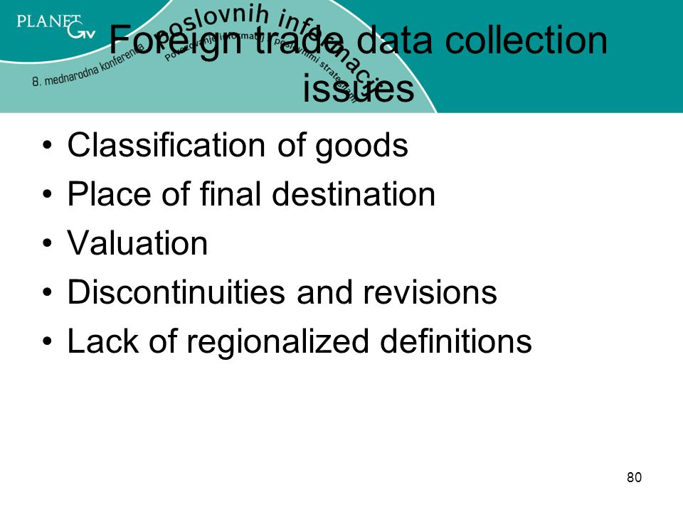Foreign trade data collection issues