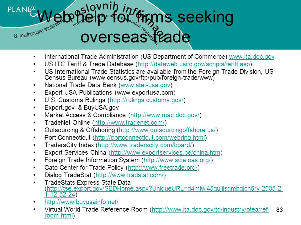 Web help for firms seeking overseas trade