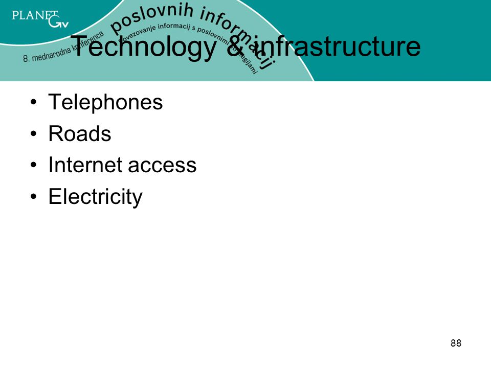 Technology & infrastructure