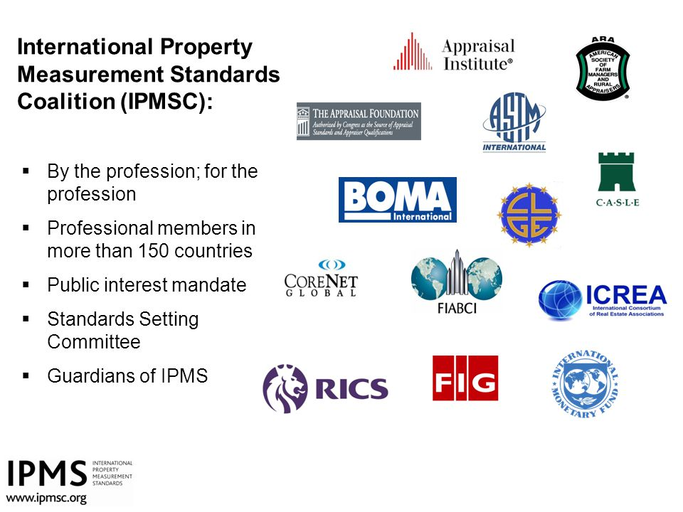 International Property Measurement Standards Coalition (IPMSC):
