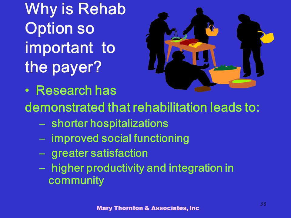 Why is Rehab Option so important to the payer