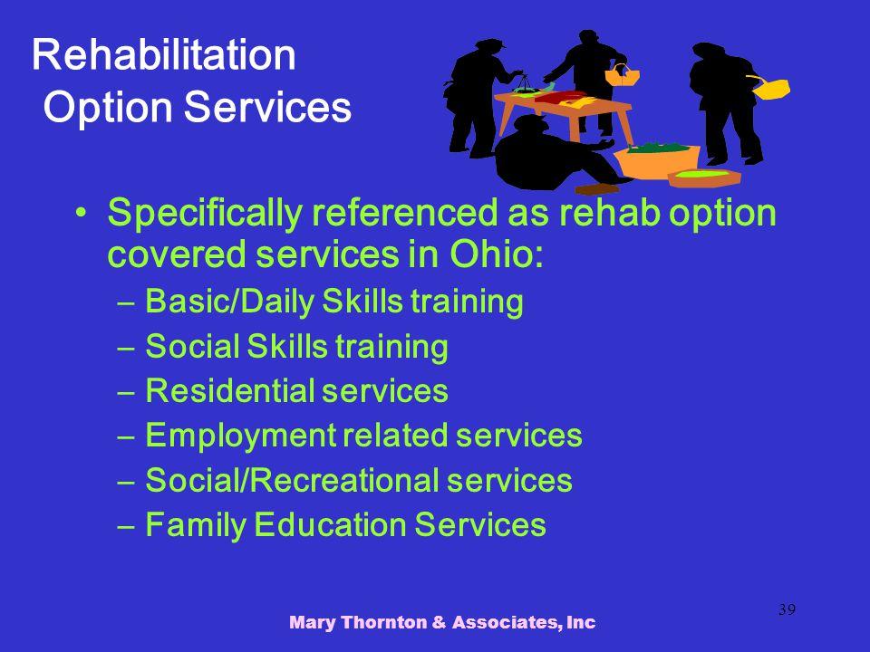 Rehabilitation Option Services