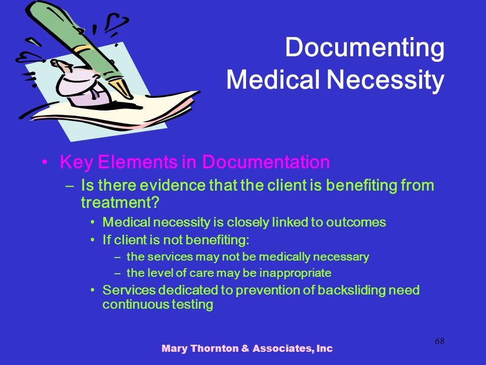 Documenting Medical Necessity