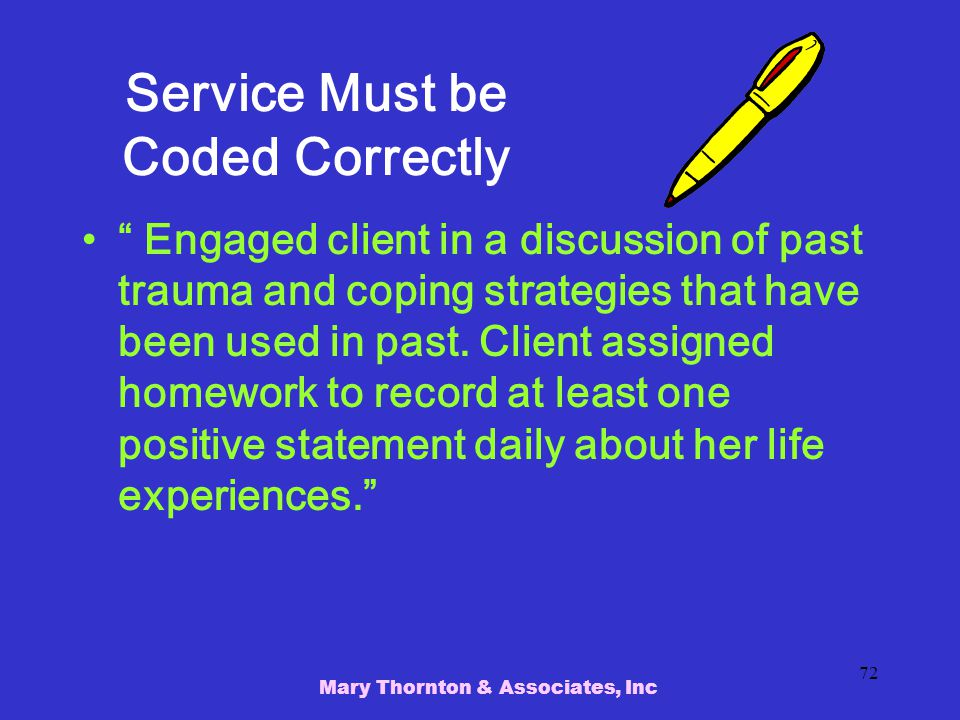 Service Must be Coded Correctly
