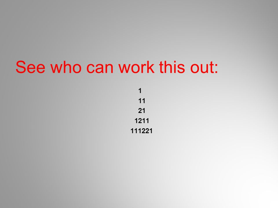 See who can work this out: