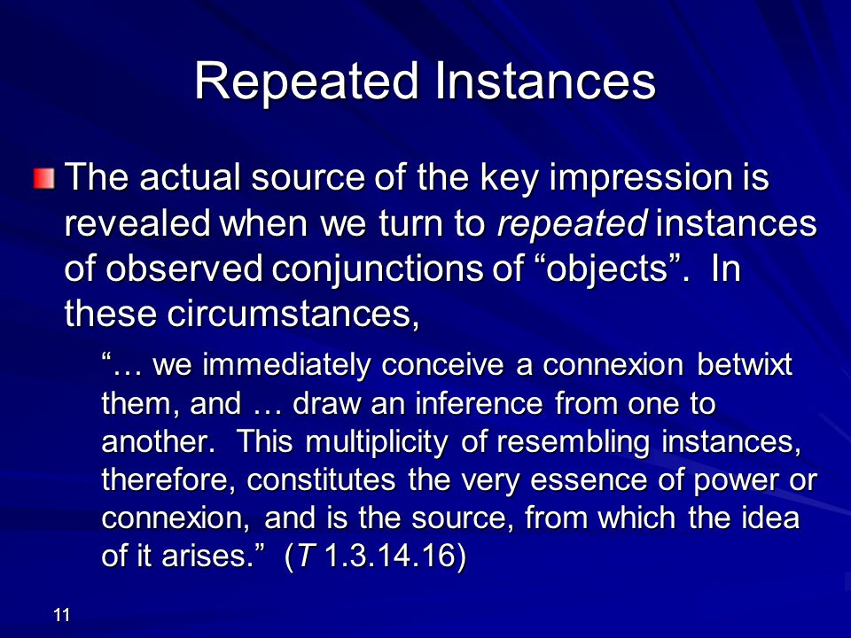 Repeated Instances