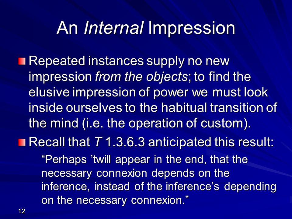 An Internal Impression