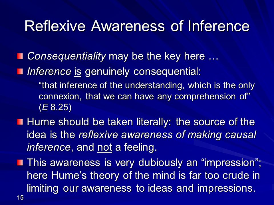 Reflexive Awareness of Inference