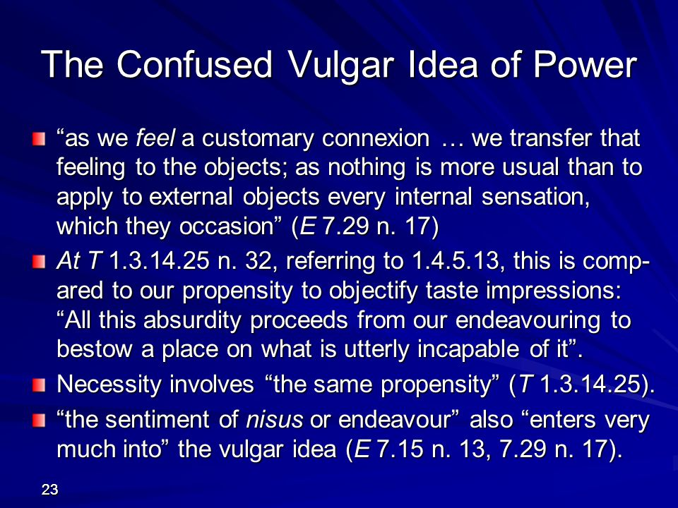 The Confused Vulgar Idea of Power