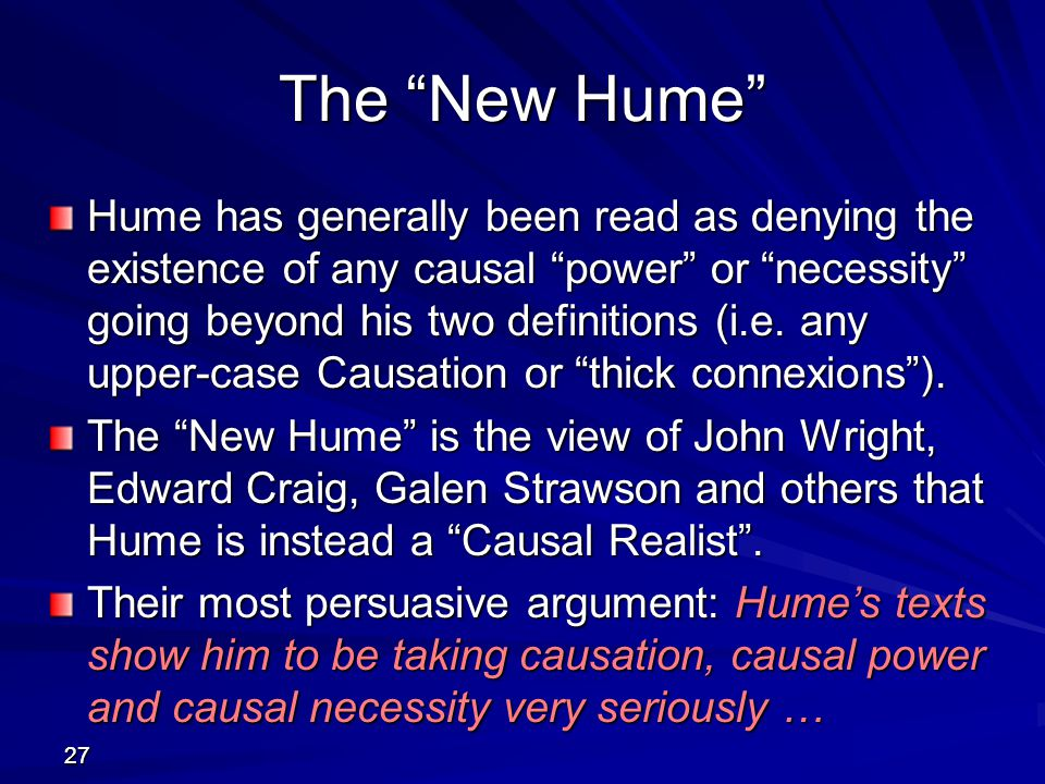The New Hume