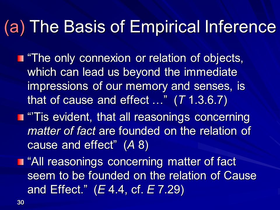 (a) The Basis of Empirical Inference