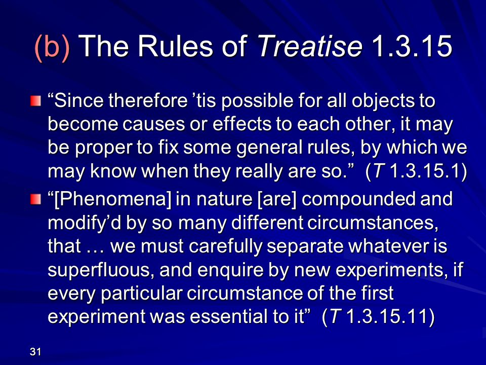 (b) The Rules of Treatise 1.3.15