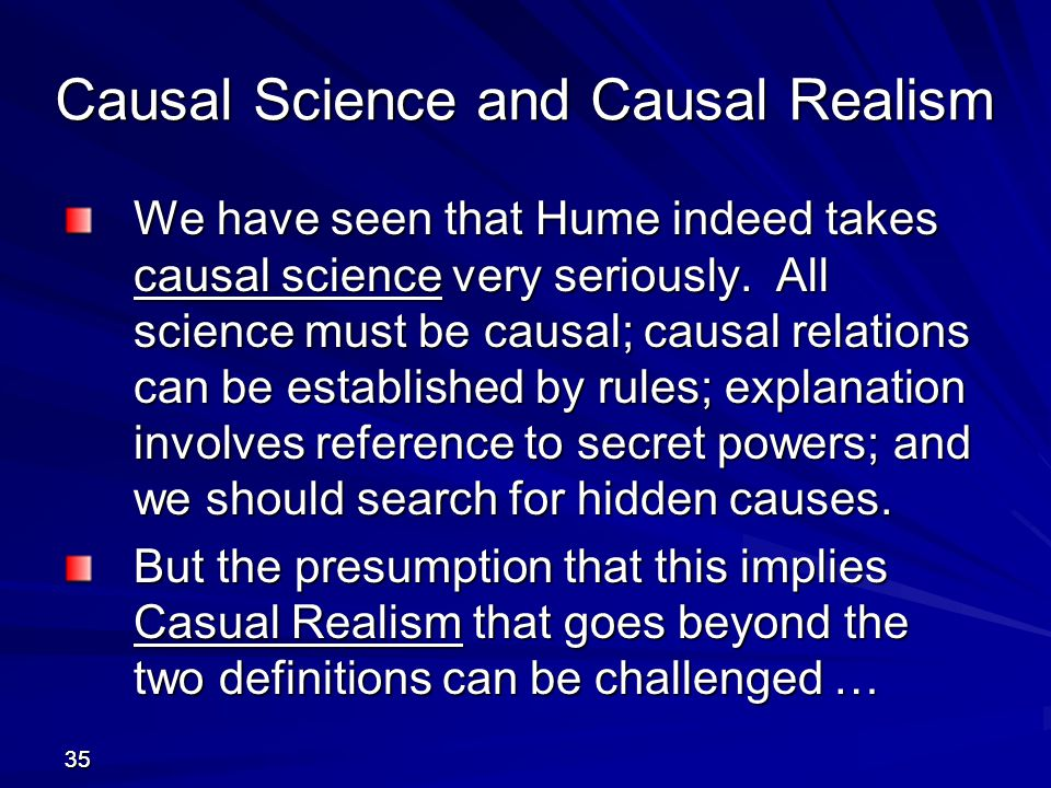 Causal Science and Causal Realism