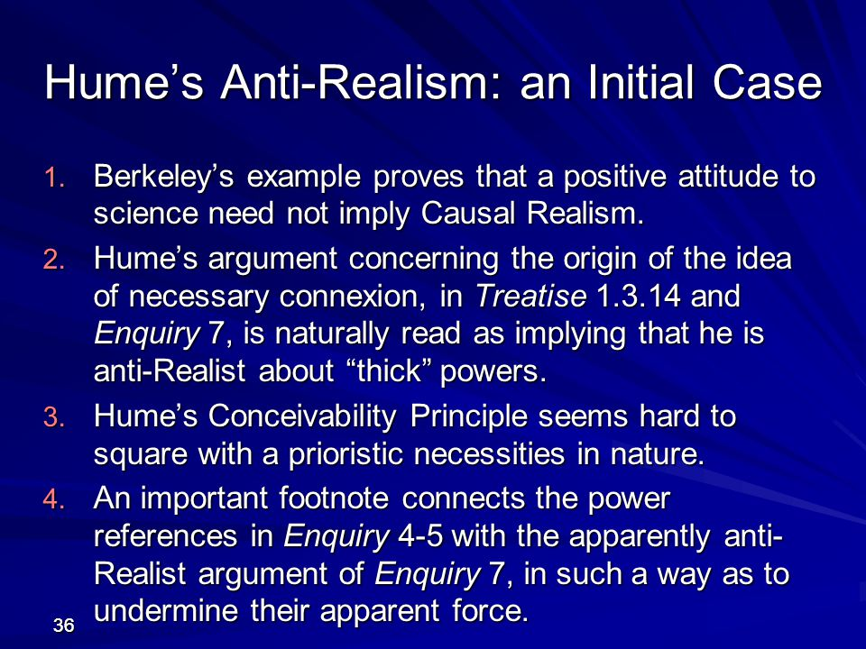 Hume's Anti-Realism: an Initial Case