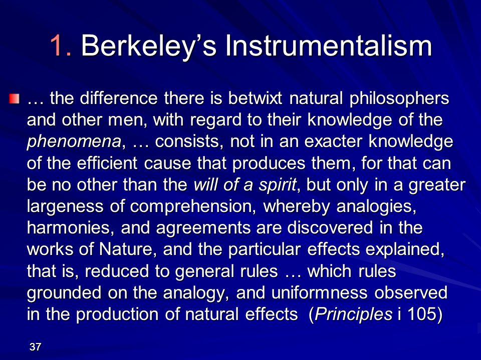 1. Berkeley's Instrumentalism