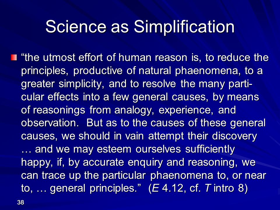 Science as Simplification