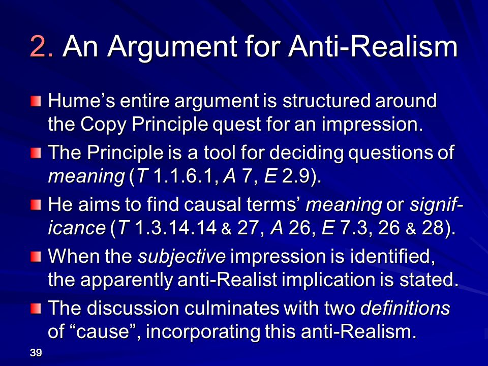 2. An Argument for Anti-Realism