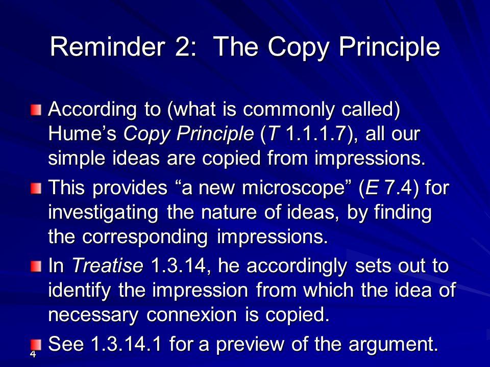 Reminder 2: The Copy Principle