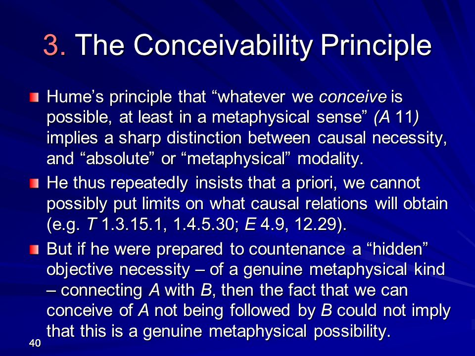 3. The Conceivability Principle