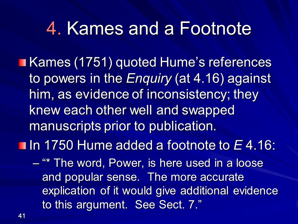 4. Kames and a Footnote