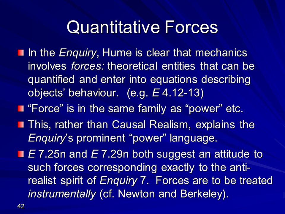 Quantitative Forces