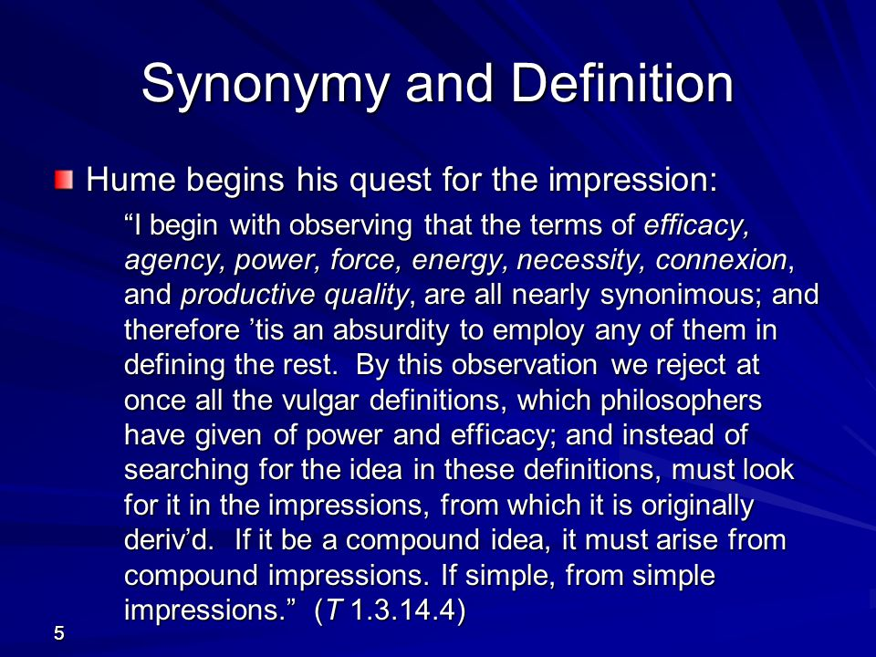Synonymy and Definition
