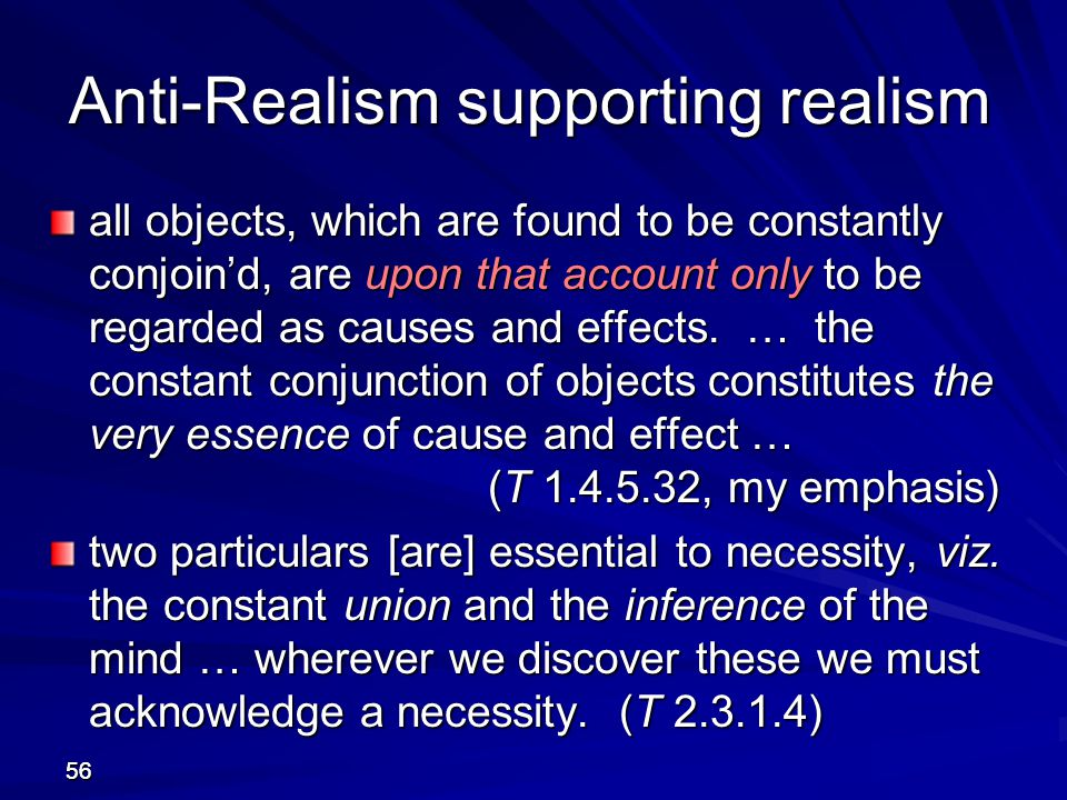 Anti-Realism supporting realism