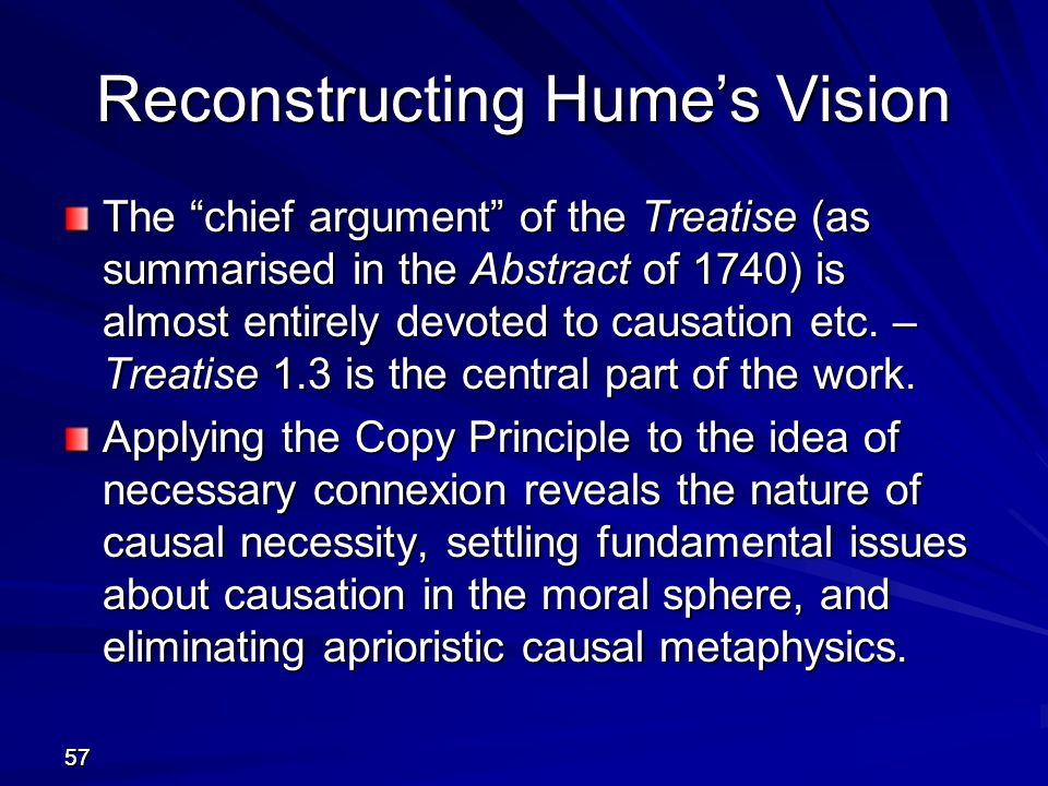 Reconstructing Hume's Vision